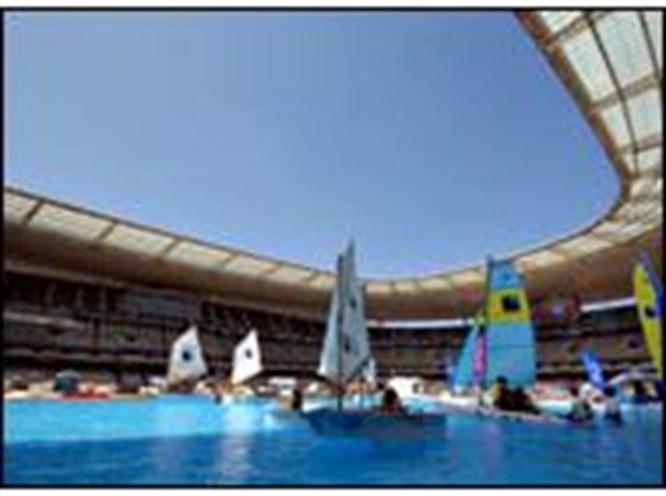 Stade de France'da plaj keyfi